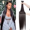 Rebecca 30 32 34 36 дюймов Пряди перуанские волосы плетение пряди 100% прямые человеческие волосы пряди Remy волосы для наращивания