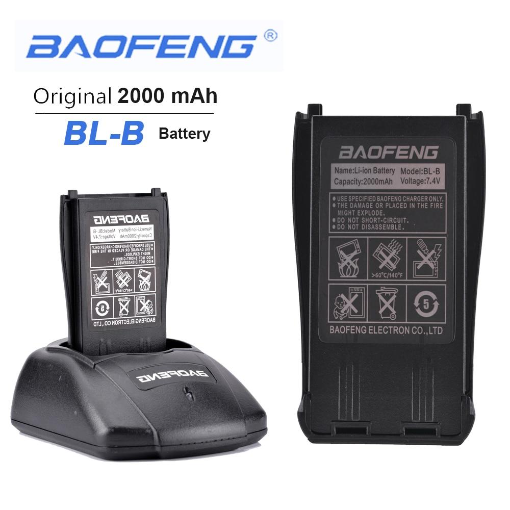 New Original BL-B 7.4V 2000mAh Li-ion Battery For Phone Accessories Baofeng UV-B5 UV-B6 Dual Band Radio Walkie Talkie Antennas