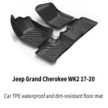Jeep custom car всепогодный tpe напольный коврик для ног черный