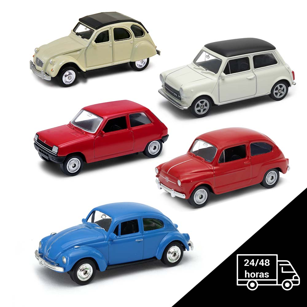 Cars Classic-5 Cars De Collection Up Scale 1:64