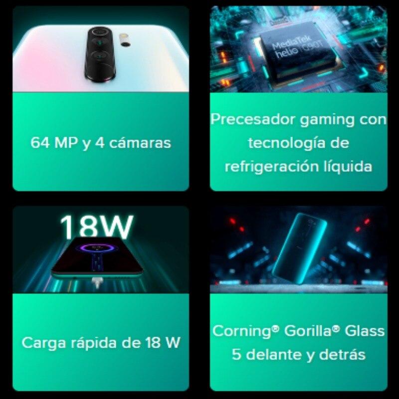 Xiaomi Redmi Note 8 Pro (128GB ROM, 6GB RAM, Cámara de 64 MP , Android, Nuevo, Libre) [Teléfono Movil Versión Global para España