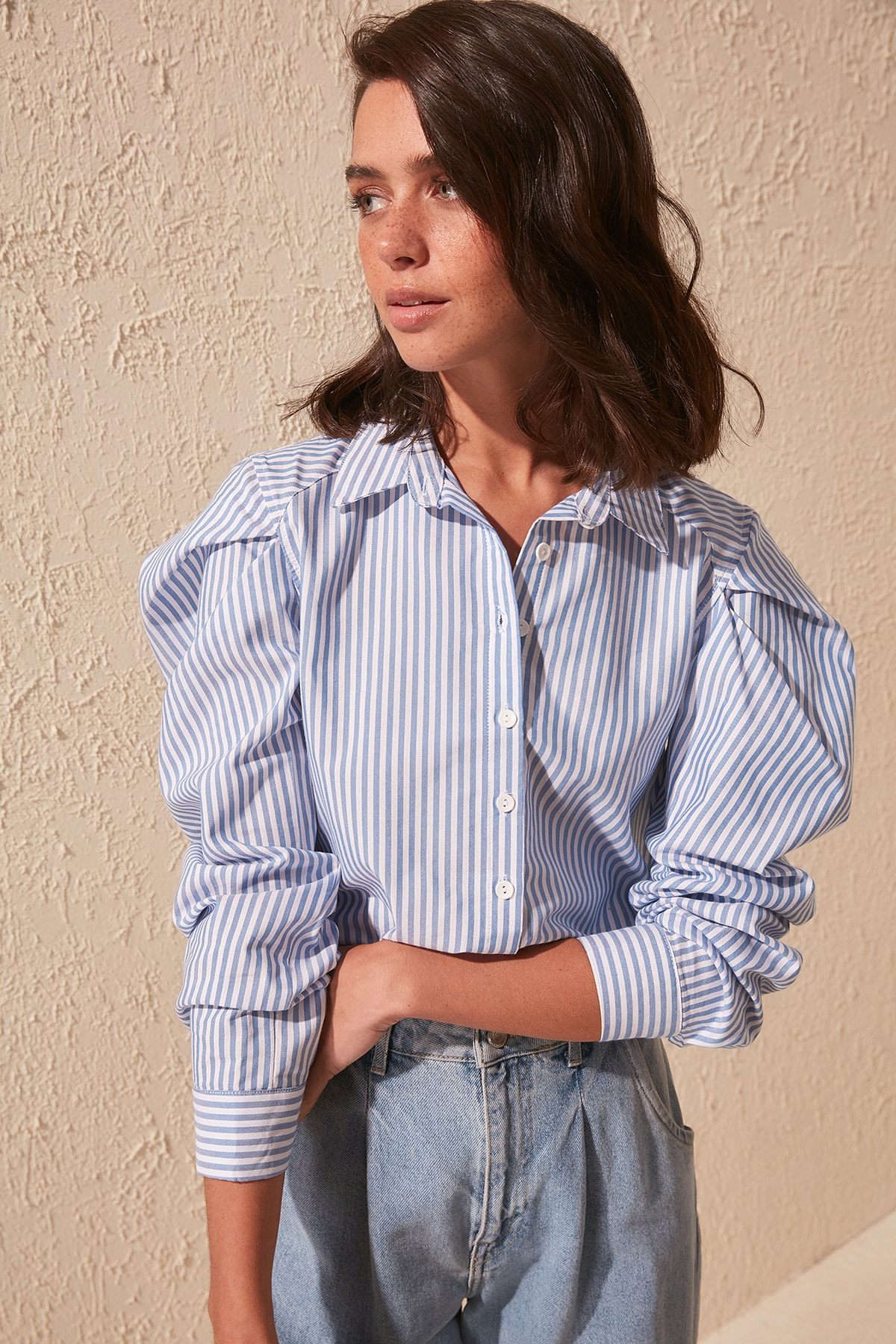 Trendyol Striped Shirt TWOSS20GO0062