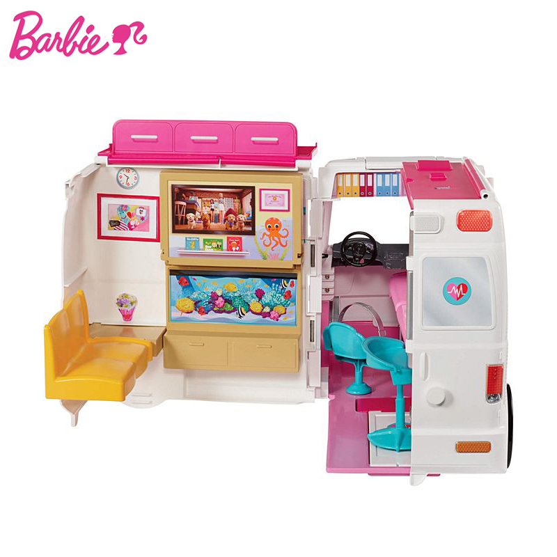 2019 barbie menina boneca brinquedo clinica veiculo 01