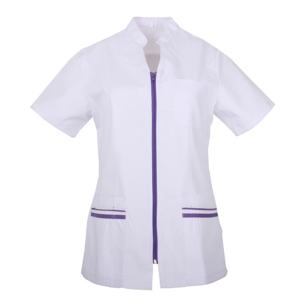 JACKET LADY SHORT SLEEVE UNIFORM LABOR CLINICA Aesthetic CLEANSING VETERINARY HEALTH Medical Nursing-Ref.702