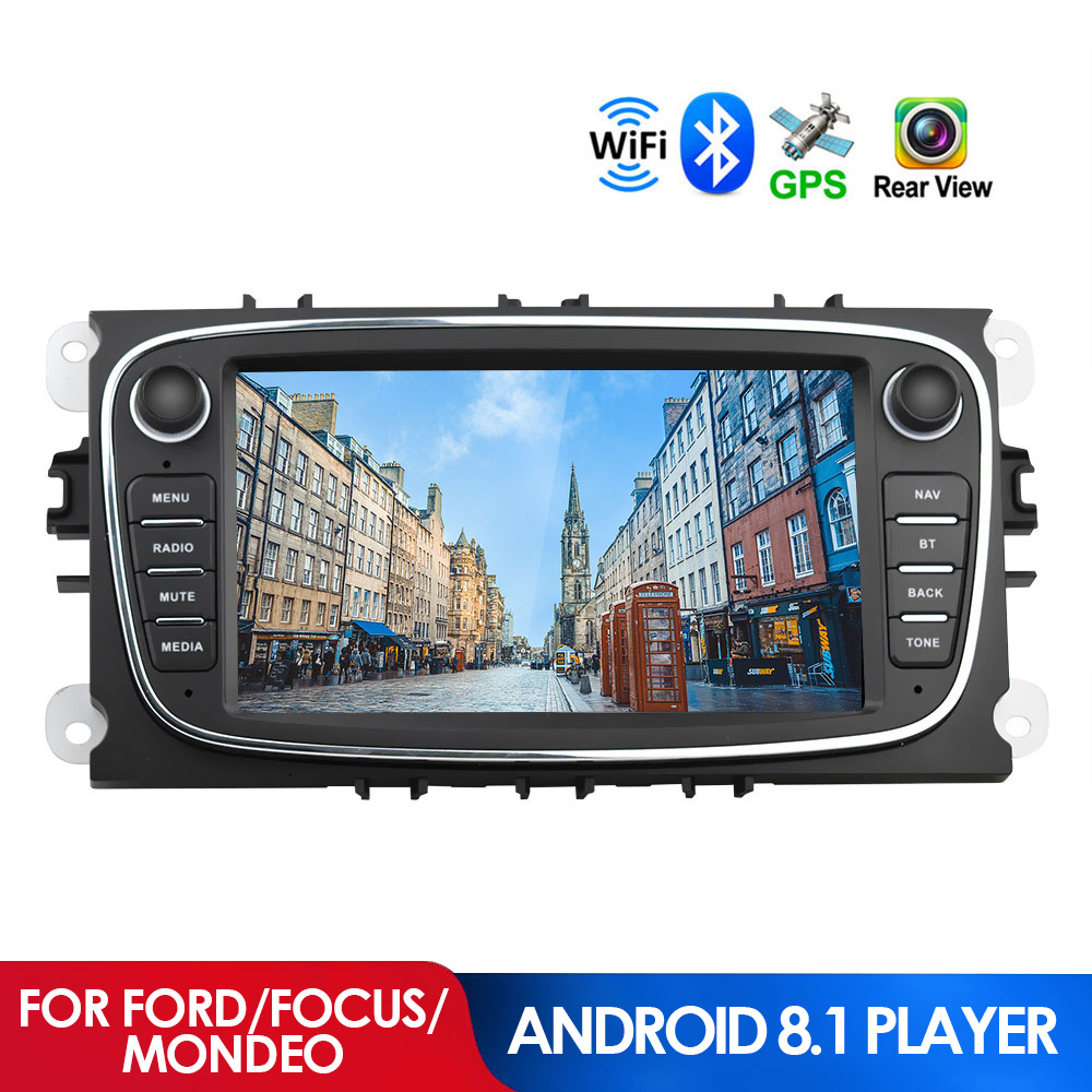 2 DIN Android 8.1 9inch Car Stereo Radio Media Player GPS WiFi 4G BT Mirror Link