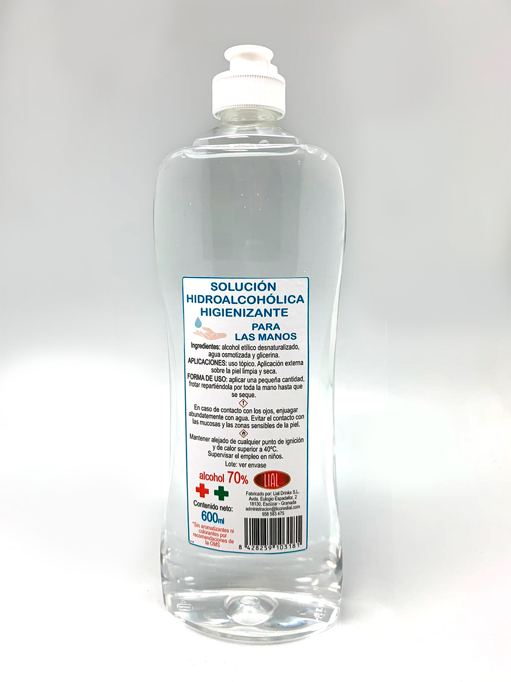 Solution Sanitizer Hydro Alcoholic For Hands. 600ml
