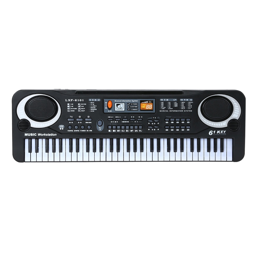61 Keys Black Digital Music Electronic Keyboard Piano Kids Gift Musical Instrument  Early Educational Tool For Kid New Arrival