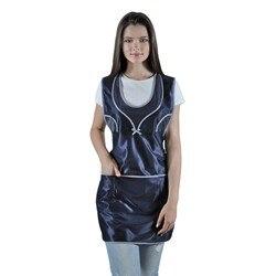Женский рабочий фартук для продавца IVUNIFORMA Фантазия тёмно-синий
