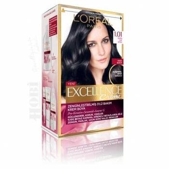Loreal Paris Excellence Creme farba do włosów 1 01 głęboka czysta czerń 328191558 tanie i dobre opinie
