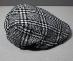 English Tweed Country Flat Hunting Cap Mens Driving Hat Wool