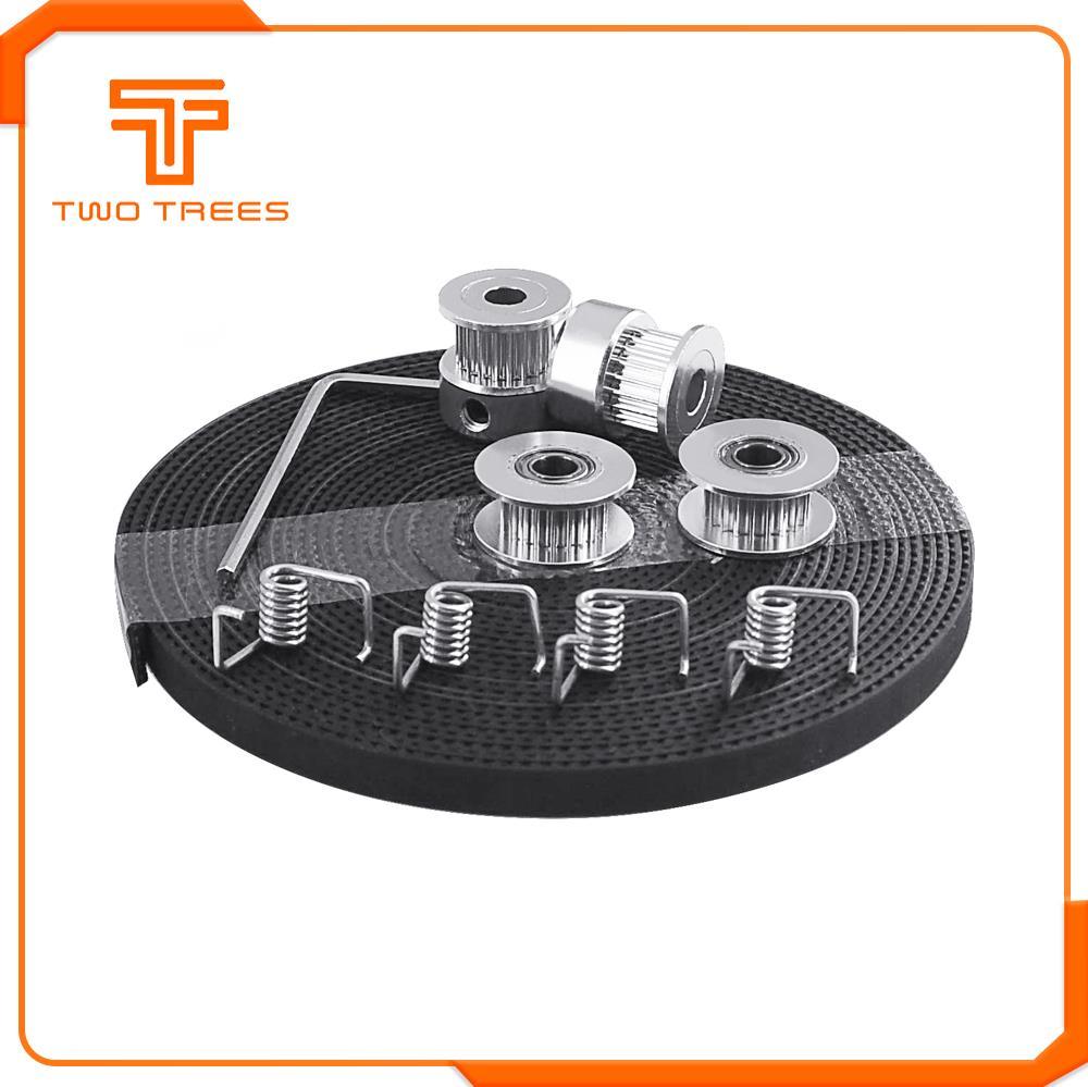 Запчасти для 3D принтера GT2 шкив 20 зубцов диаметр 5 мм GT2 6 мм Ремень ГРМ и 2X Натяжной ролик 4X Натяжитель для 3D принтера комплект|Детали и аксессуары для 3D-принтеров|   | АлиЭкспресс