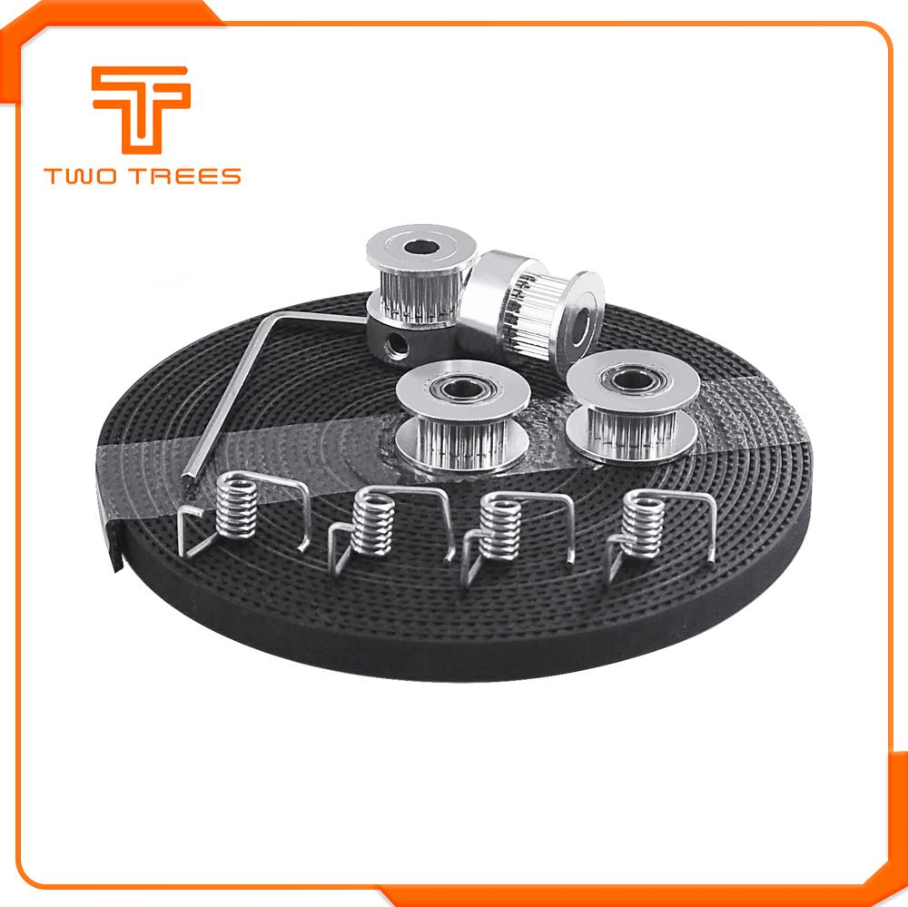 3D Printer Parts GT2 Pulley 20 Teeth Bore 5mm GT2 6mm Timing Belt & 2X Idler 4X Tensioner for 3D printer kit(China)