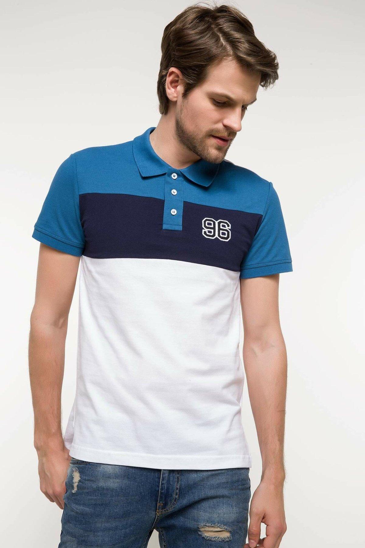 DeFacto Fashion Man Polo Shirt Men's Casual Striped High Quality Tops Male Casual Comfort Polo-shirt Summer New - I4243AZ18SM