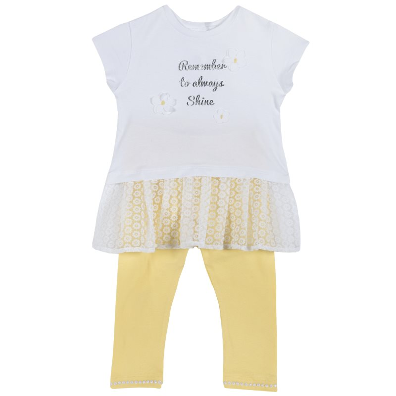 Set T-shirt and leggings Chicco size 086 color yellow