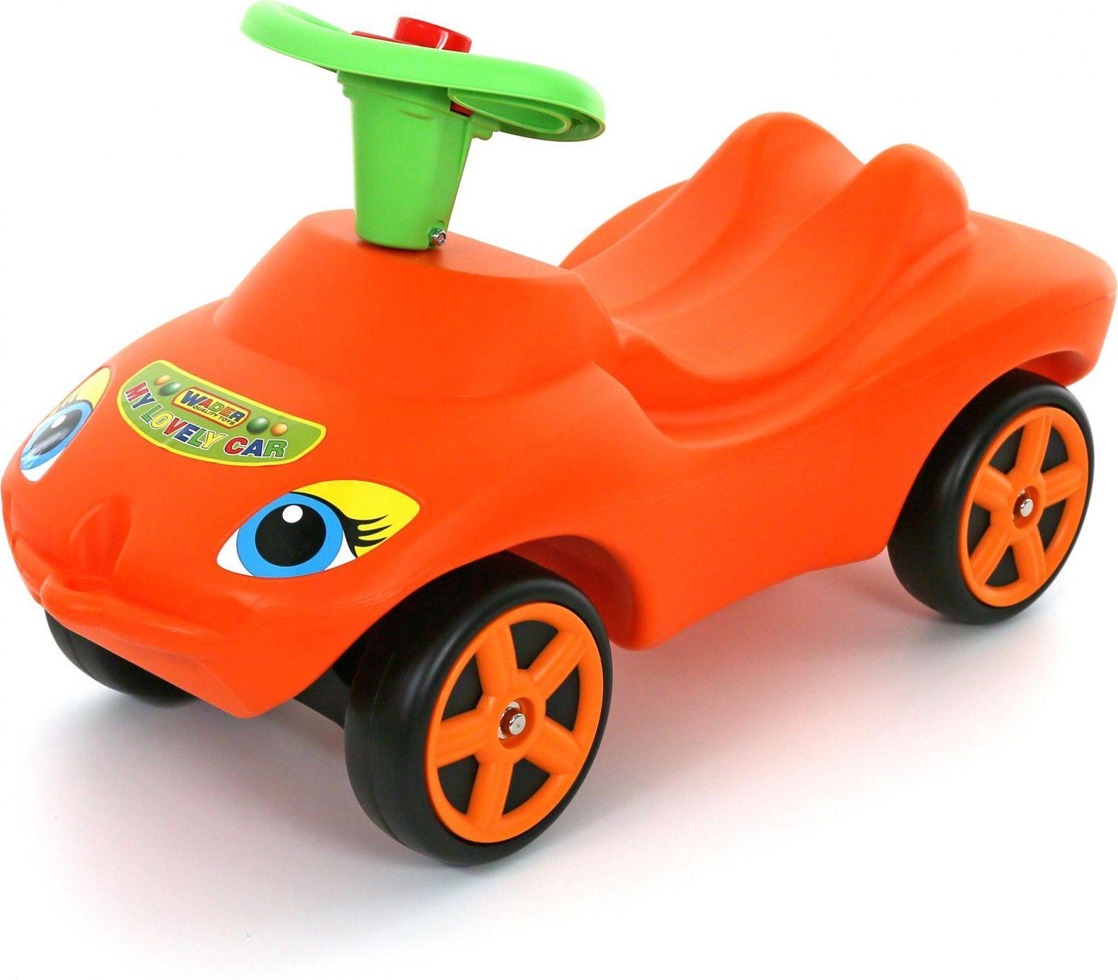 Wheelchair My favorite car orange with sound signal my favorite bear