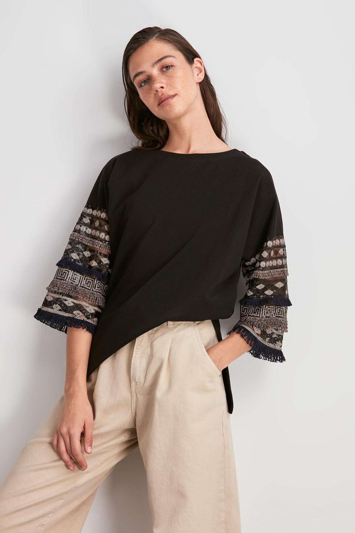 Trendyol Tassel Detail Knitted Sweatshirt TWOAW20SW0706