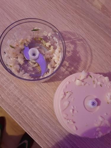 Electric Food Mini Press Garlic Crusher photo review