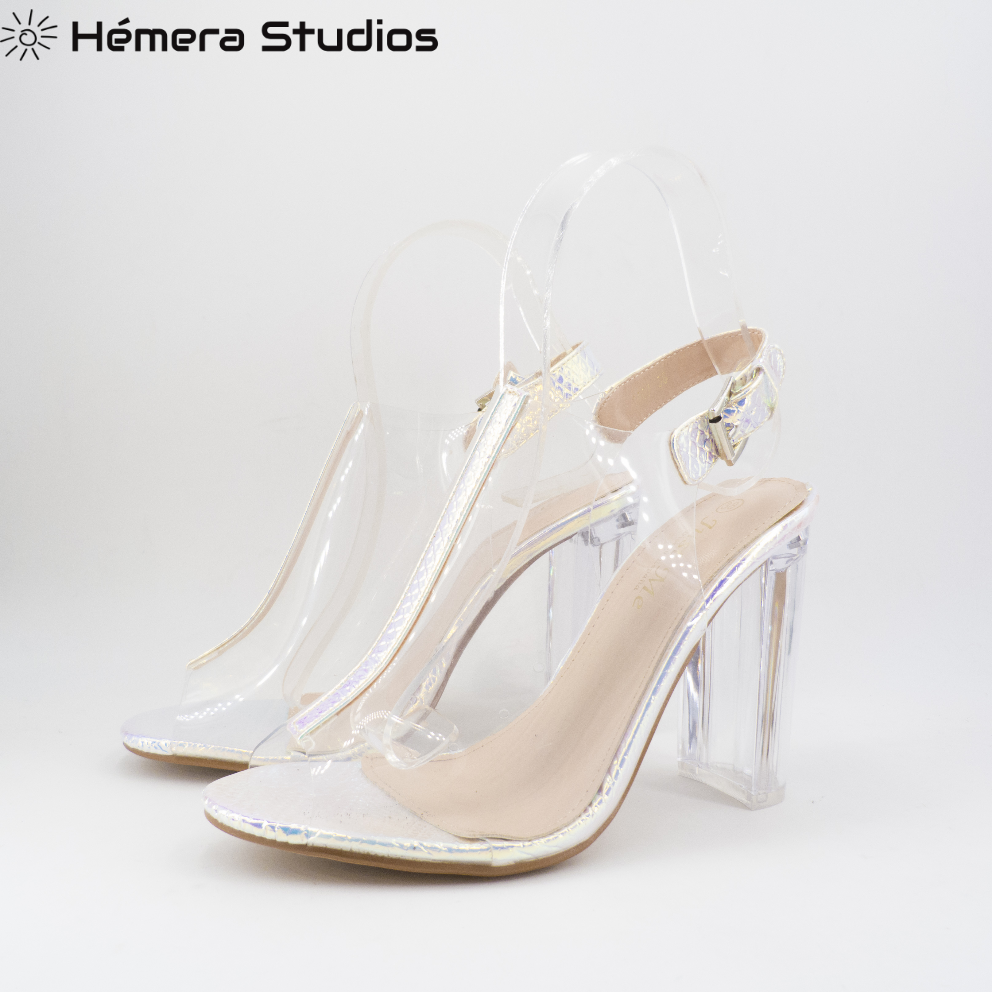 WOMEN'S SHOES HEEL SANDALS HIGH CRUZ-TIED WITH SUMMER PLATFORM PINK CLEAR NEW COLLECTION
