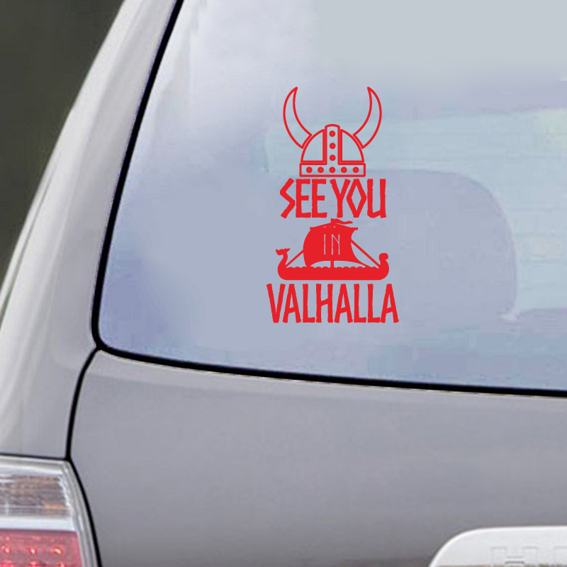 See You In Valhalla Car Decal Sticker