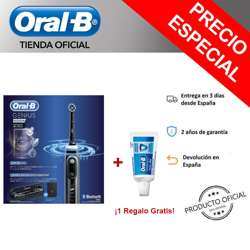Oral-B Genius 10200W 10200W B Oral toothbrush Electric rechargeable oral b toothbrush toothpaste genius black + Gift image