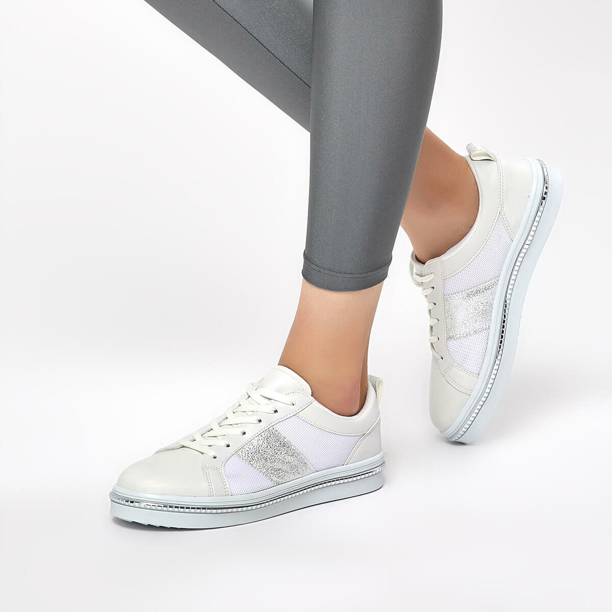 FLO 91.313340.Z White Women 'S Sneaker Shoes Polaris
