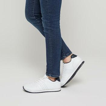 FLO 91 356036 M białe męskie buty sportowe Polaris tanie i dobre opinie Sztuczna skóra