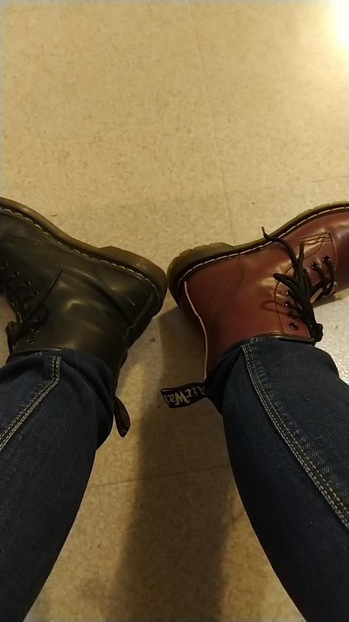 Doc femmes bottes en cuir véritable