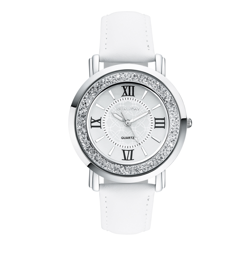 Women's Watch with crystals on the leather belt sunlight|Women's Watches| |  - title=