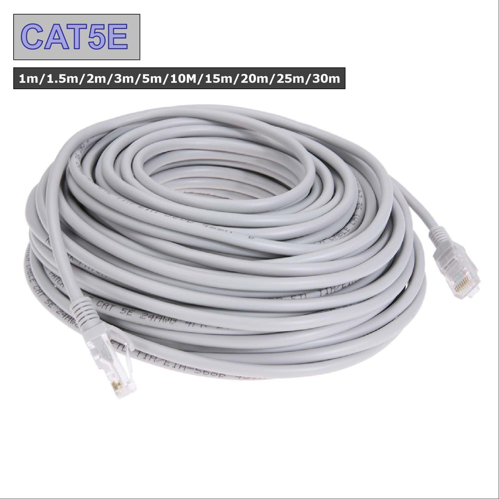 Computer Cables RJ45 Ethernet Cable 1M 1.5M 2M 3M 5M 10M 15M 20M 25M 30M for Cat5e Internet Network Patch LAN Cable Cord for PC Computer Cable Length: 5m