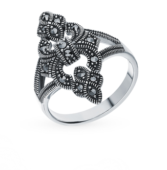 Silver ring with marcasite sunlight sample 925