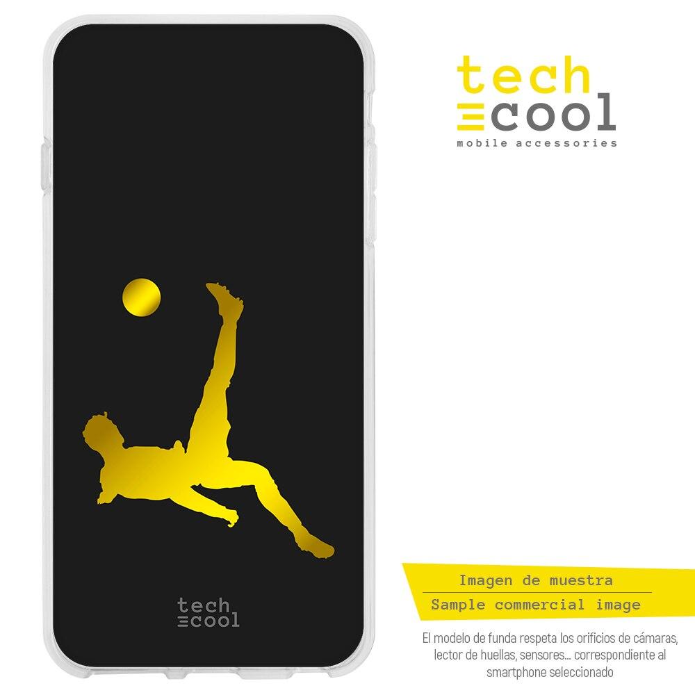 FunnyTech® Funda Silicona para Samsung Galaxy A70 l Diseño CR7 Chilena fondo negro