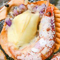 芝士烤加拿大北极虾扇贝的做法图解13