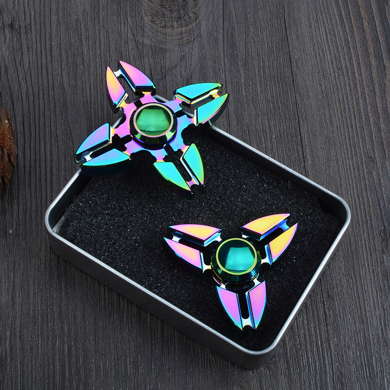 Toy Fidget Gyro Spinner-Rainbow-Toys Hand-Spinner Adults Metal Christmas-Gift Kids img3