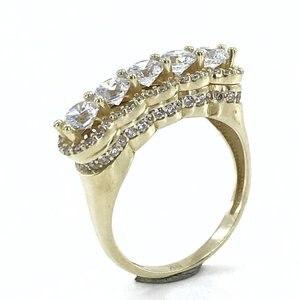 Бриллиантовое мастерство Эйфелева модель 8 K Золотое кольцо
