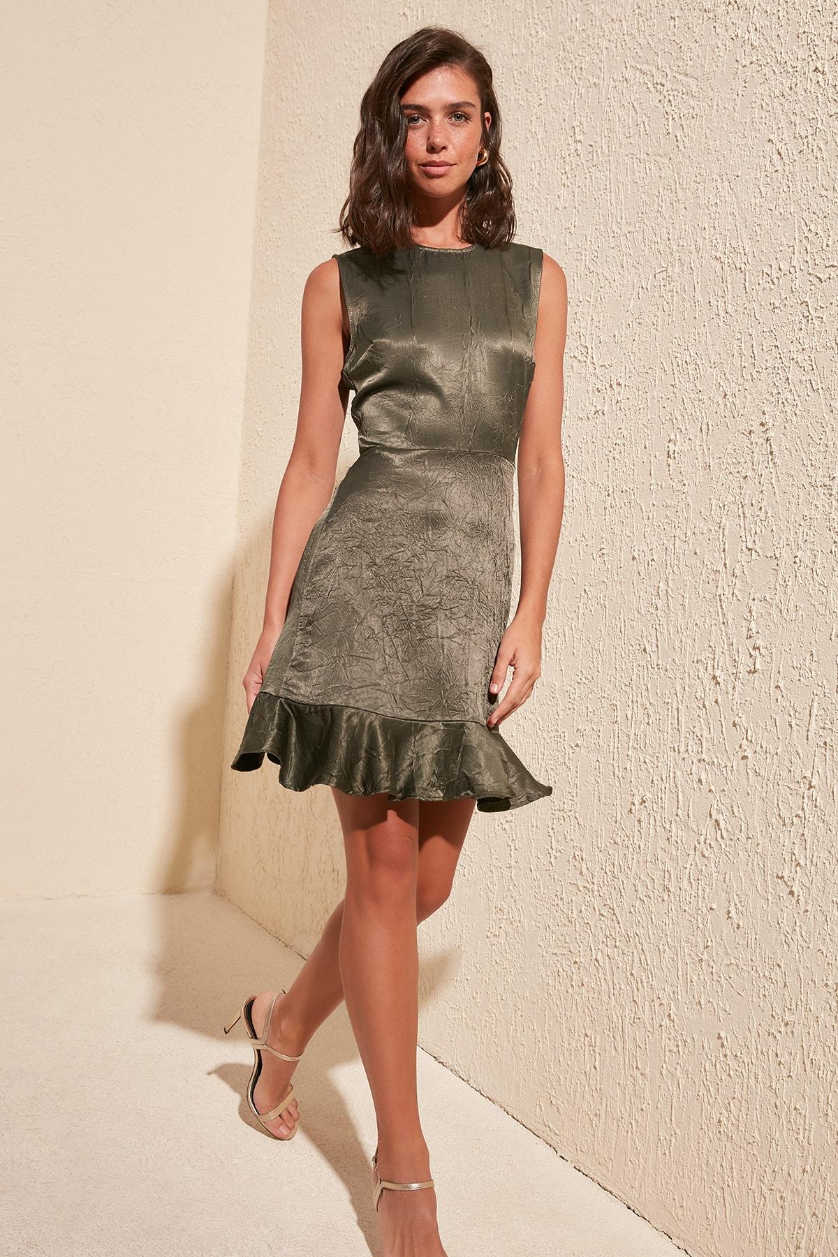 Trendyol With Crinkle Effect Dress TWOSS20EL1613