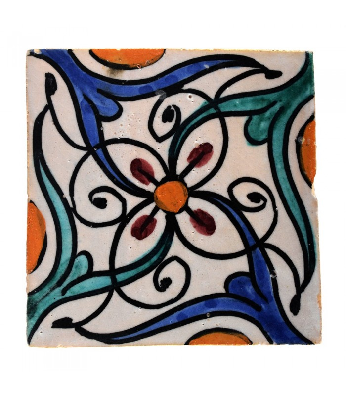 Azulejo Andalusí - 10 cm - Handmade- Model 27