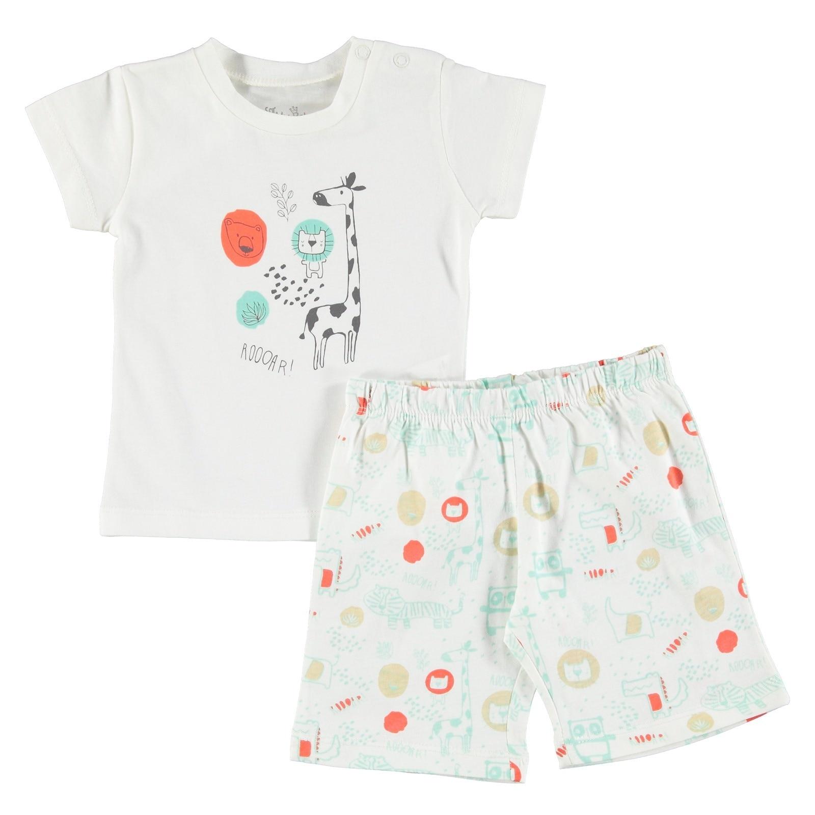 Ebebek For My Baby Boy Lion Printed Short SleevePyjamas
