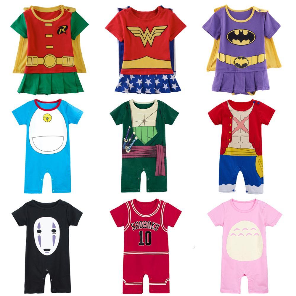 Детский комбинезон для мальчиков и девочек, комбинезоны с супергероями, детский комбинезон, нарядвечерние ничная одежда для малышей, Одежд...
