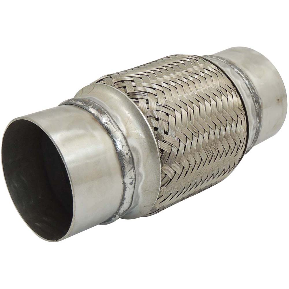 2 5 3 inch 200mm lenght exhaust stainless steel braid flex pipe flexible exhaust joint pineapple coupling with extention