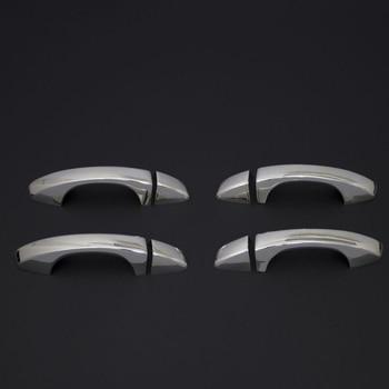 For Seat Leon 5F Accessories 2012+ Leon 5F Accessories Chrome Door Handle Chrome Stainless Steel 4 Door