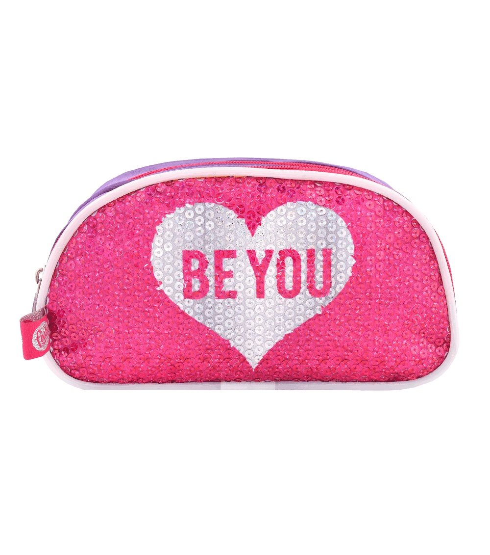 FOOTY Case Be You Pink Double With LED Light AND Sequins