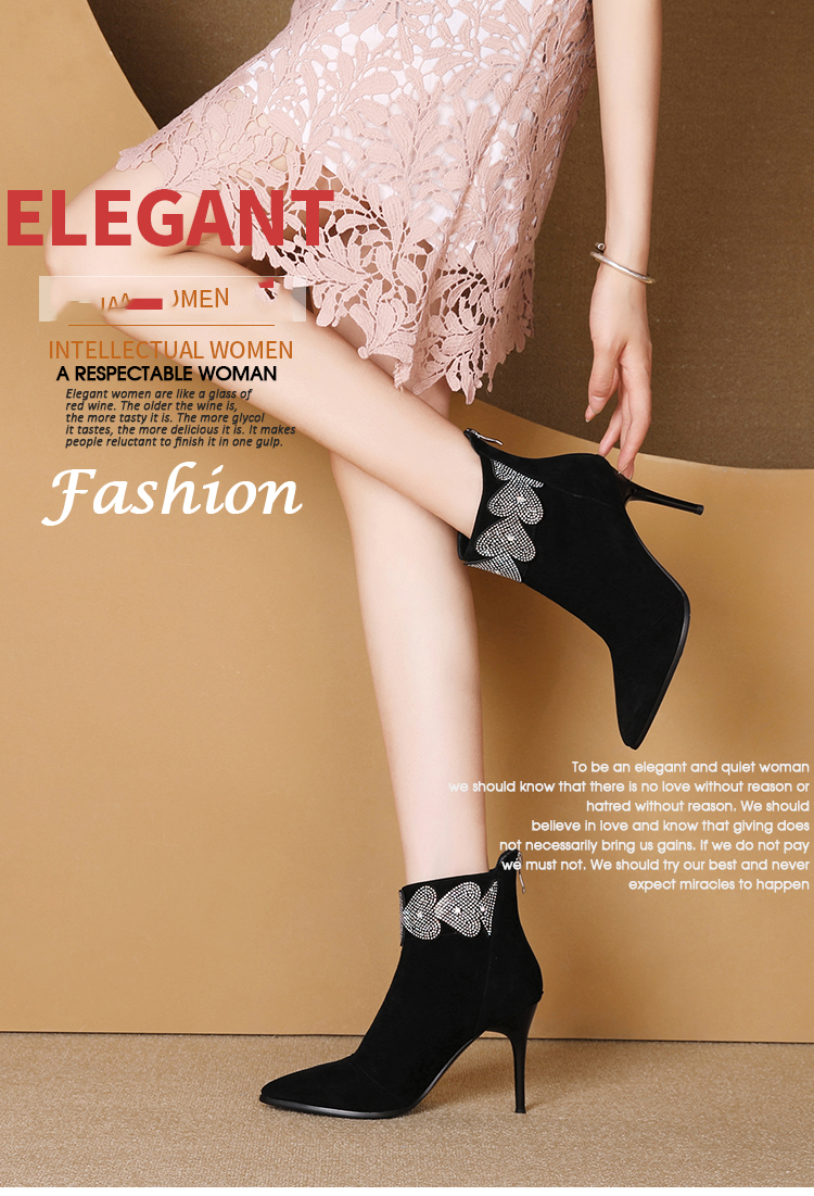 Respctful Women Boots Spring Winter Black and Brown Boots Fashion Shoes Heel Quality Suede Long Boots