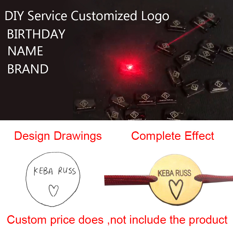 Customized Logo CustomizeDIY Service Customized Logo Special Gift For Lovers Valentine's Day Gift Necklace Bracelet Ring