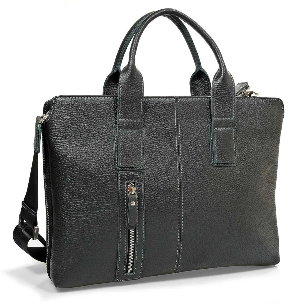 Briefcase <font><b>male</b></font> pellecon genuine leather image