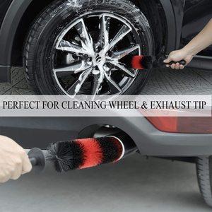 Image 5 - 2PCSล้อรถล้างแปรง18นิ้วยาวSoft Bristleยางขอบแปรงทำความสะอาดพร้อมHandleสำหรับไอเสียเครื่องยนต์เคล็ดลับGrillsรถจักรยานยนต์