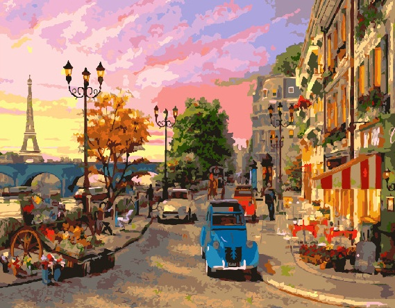 Painting By Numbers GX 9164 Streets Of Paris 40*50