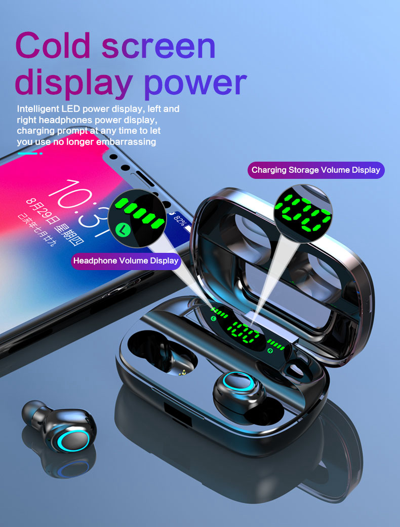 TWS Wireless Earbuds with Power Bank 92