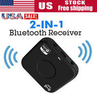 2 IN 1 Bluetooth adapter Receiver 4.2 APTX NFC 3.5mm Jack Aux Wireless Music Adapter for PC Smartphone TV Car Audio Receiver