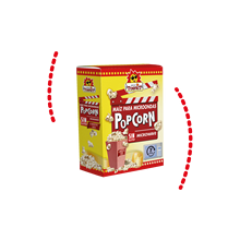 Microwave POPCORN box POPCORN toscrit 5 units with 3 bags of 90 grams each. TOTAL 15 bags of 90 gr