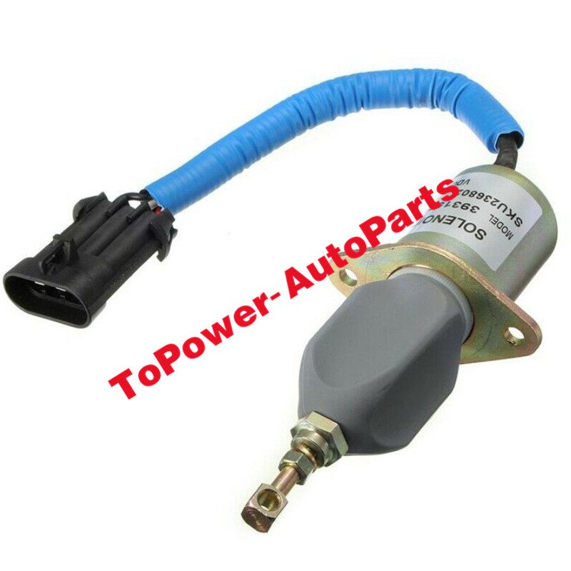 Fuel Shut Off Solenoid Valve Kit 5016244AA 3800723 3923201 3931570 SA498112 For Dodgee Ram 2500 3500 Cummins Diesel SA-4981-12